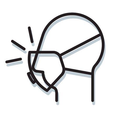 Respiratory Protective Mask - N95 - Icon as EPS 10 File