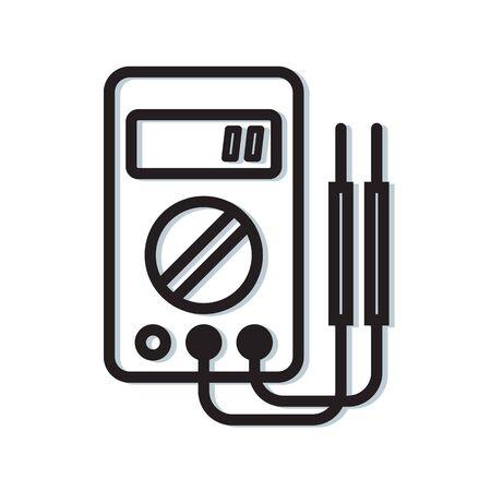 Digital Multimeter Instrument Icon as EPS 10 File