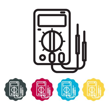 Digital Multimeter Instrument Icon as EPS 10 File