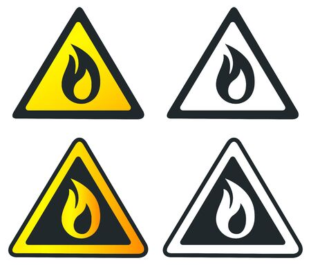 Fire Alert Inflammable Icon Illustration