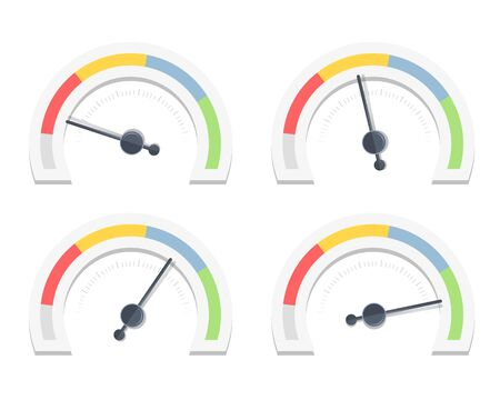 Four Stage Performance Meter - Stock Illustration as EPS 10 File