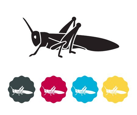 Locust Large Herbivorous Insects - Icon as EPS 10 File