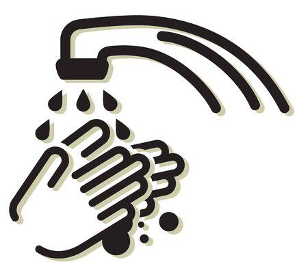 Hygiene - Handwash Stock Icon as EPS 10 File Çizim
