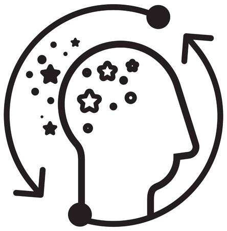 Alzheimer's Disease Icon as EPS 10 File