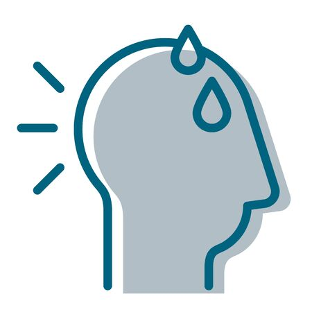 Stress with Sweat on Head Icon as EPS 10 File
