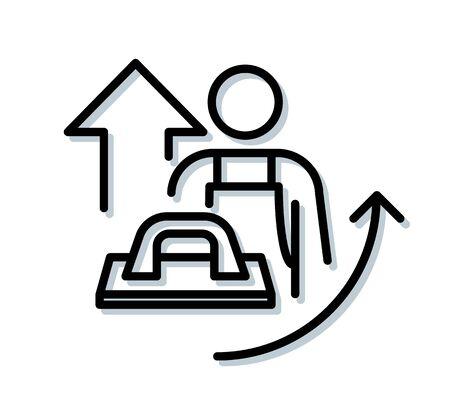 Construction Skill Workmanship Demand - Icon as EPS 10 File 矢量图片
