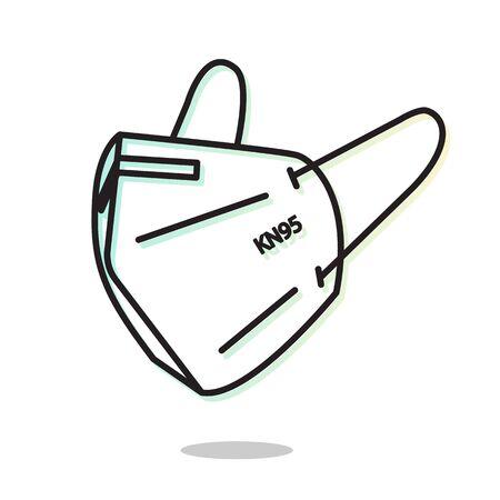 Respiratory Protective Mask - KN95 - Icon as File