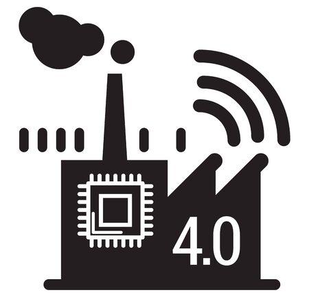 Smart Factory Icon as   File Standard-Bild - 147772692