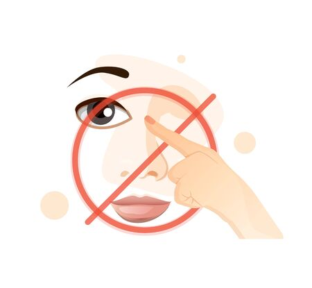 Avoid Touching Eye Nose and Mouth to prevent coronavirus
