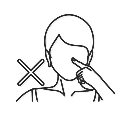 Avoid Touching Face to prevent coronavirus