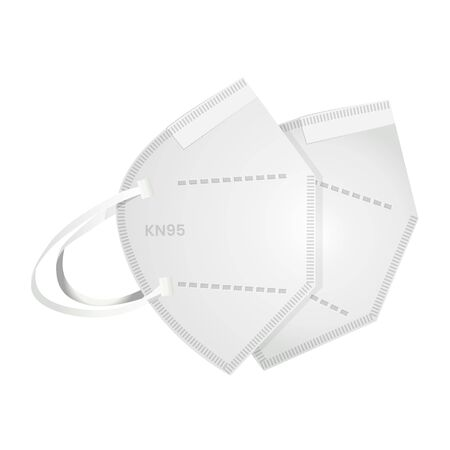 Respiratory Protective Mask - KN95 - Icon as EPS 10 File Ilustrace