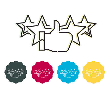 Star Rating stock illustration