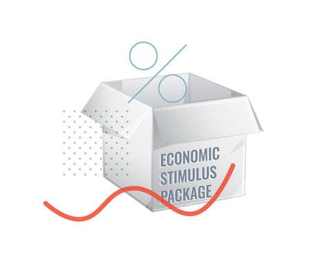 Economic Stimulus Package to Revive Economy  イラスト・ベクター素材