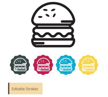 Burger - Hamburger -  Fast food - Junk Food Icon as EPS 10 file
