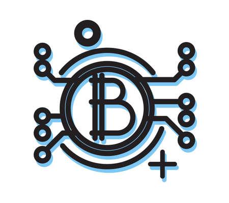 Blockchain Technology - Icon Illustration