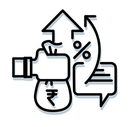 Government Policy to Revive Economy in India - Icon Illustration  イラスト・ベクター素材