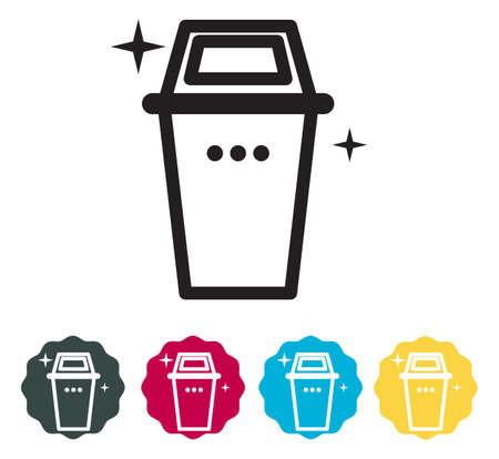 Waste Management Icon as EPS 10 File Vector Illustratie
