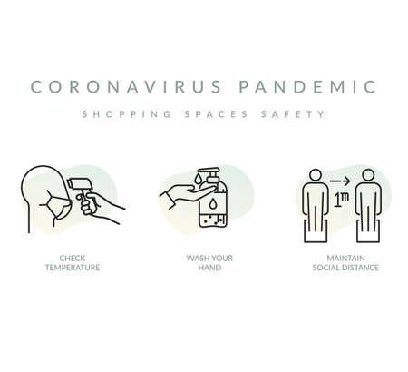Coronavirus Pandemic - Preventive Measures - Icon File