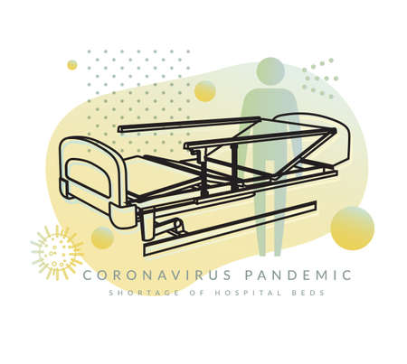 Coronavirus - covid-19 - Shortage of Hospital Beds - Abstract Illustration as EPS 10 File