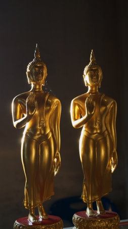 persuading: Two buddhas of the attitude persuading the relatives not to quarrel   Stock Photo