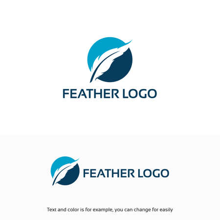 simple Feather Logo designs template Illustration