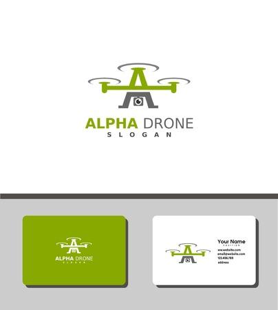 alpha drone logo