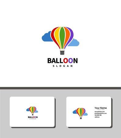 air balloon logo Illustration