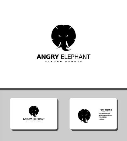 angry elephant logo