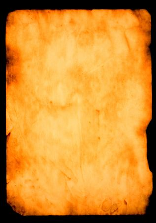 papier brul�: papier br�l� sur fond noir