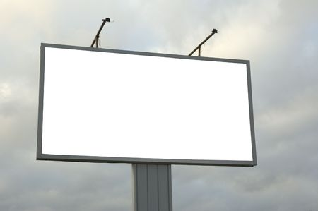 inform information: blank billboard, just add your text Stock Photo