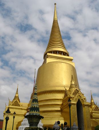 Golden Stupa in Grand Palace - Bangkok photo