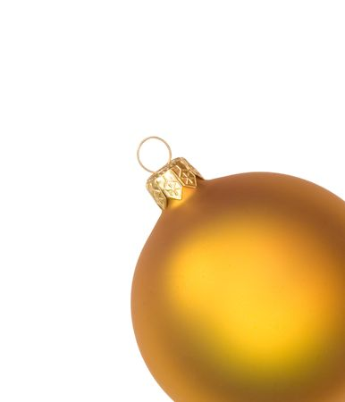 Isolated golden christmas bauble photo