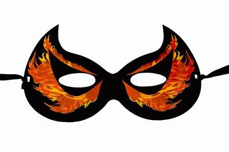 halloween devil mask photo