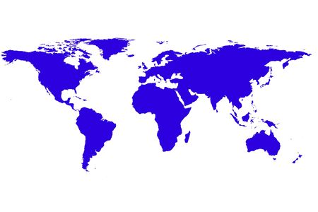 background antarctica: blue world map