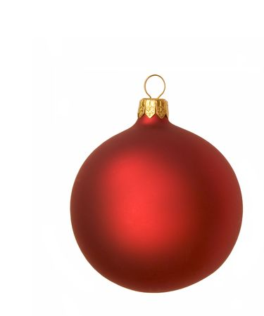 Isolated red christmas bauble photo