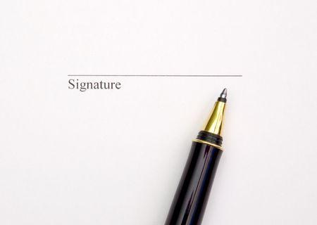 signature and pen