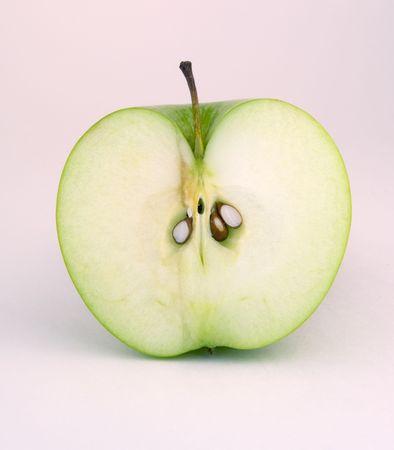 slit: half of green apple