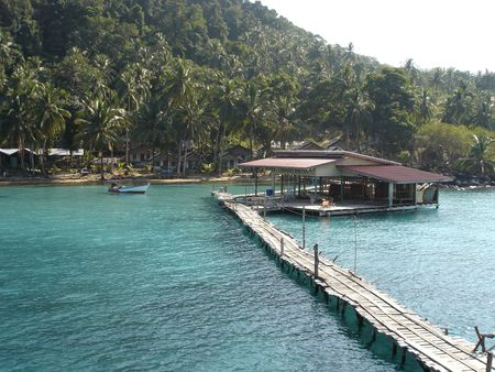 pier at isolated island photo