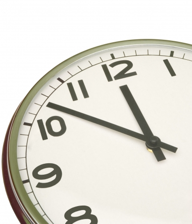 clock at five minutes to twelve Stock Photo - 287581