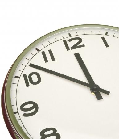clock at five minutes to twelve Stock Photo - 287581