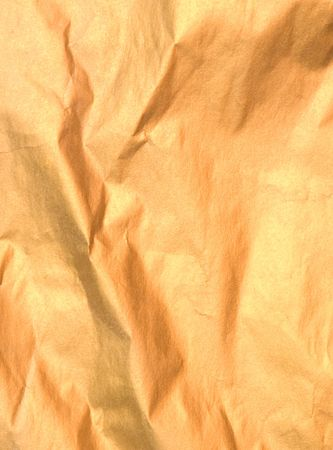 crumpled golden paper Stock Photo - 287570