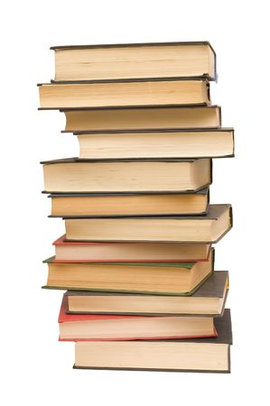 tomes: pile of old books Stock Photo