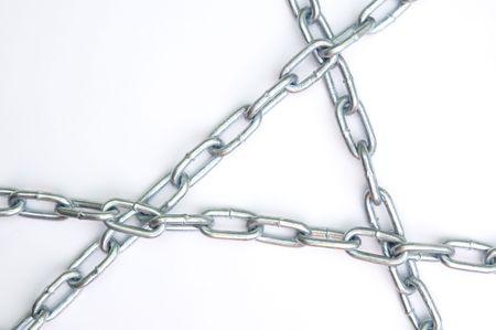 weaker: chain links Stock Photo
