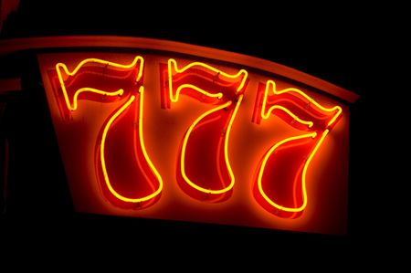 lucky figures 777 - neon sign photo