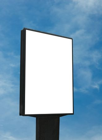 blank billboard over blue sky photo