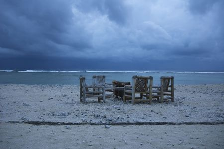 beach in stormy weather Stock Photo - 327197