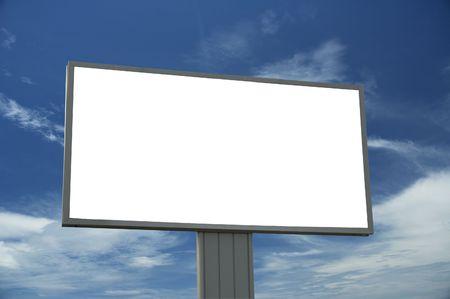 adboard: blank billboard, just add your text Stock Photo