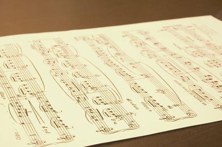 clarinet player: notes sheet