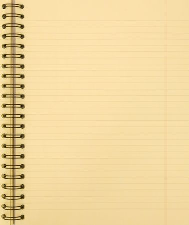 blank yellow notebook photo
