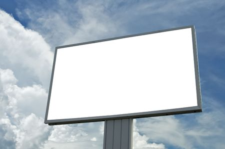 blank billboard over blue cloudy sky, just add your text Stock Photo - 343991